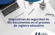 Dispositivos de seguridad de los documentos en el proceso de registro educativo